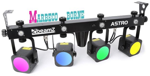 Disco verlichting en effecten: Astro Parbar 4x 20W COB + 4x 1W Witte ...