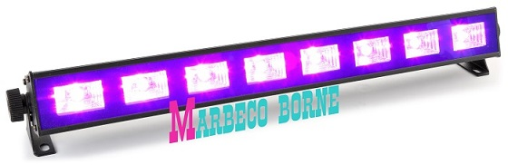Disco verlichting en effecten: LED UV bar BUV93 LED 8x3W