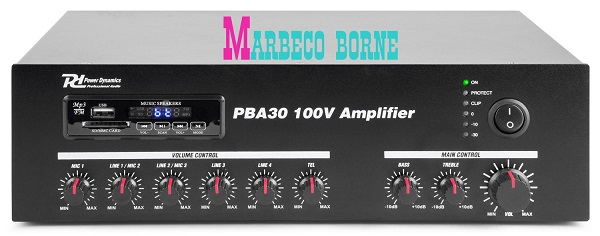 pa 100 volt systemen pba30 100v versterker 30w